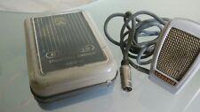 Microphone Grundig GDM 15 vintage dans sa boîte d'origine ancien
