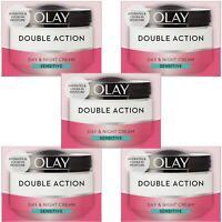 5 Olay Double Action Day & Night Moisturiser Cream Sensitive Hydrating Care 50ml