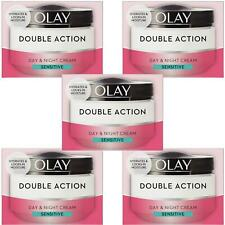 5 Olay Double Action Day & Night Moisturiser Cream Sensitive Hydrating Care 50ml