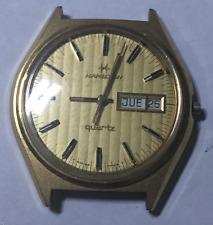 Vintage Hamilton Quartz Men's Watch Untested Parts/Repair Gold V2