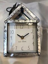 Rae Dunn Clock RARE METAL Galvanized CLOCK  House Shape NWT VHTF
