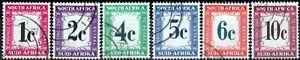 South Africa 1961 P.Due set of 6 SGD45-D50 V.F.U (4)