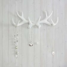Wall Charmers Antler Hooks White Necklace Rack Fake Deer Animal Jewelry Faux