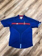FRANCE NATIONAL TEAM 2004 ATHENS OLYMPICS ADIDAS SOCCER JERSEY XL