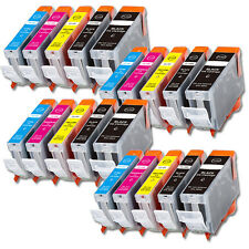 20 PK New Ink Set + Chip for PGI-220 CLI-221 Canon iP4700 MP560 MP620 MX870