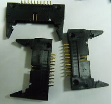 10 Molex 5330-20BG1 PCB 20 way latched straight IDC header plug
