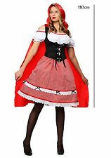 110cm RED CAPE WITH HOOD Ladies Girls Fancy Dress Costume Halloween Party
