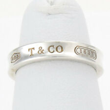 Tiffany & Co. Sterling Silver Concave Stamped Band Ring Sz 4.5