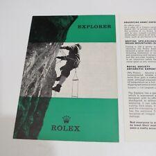ROLEX Explorer  1966 Brochure Booklet Vintage Rolex English Splited in 2 parts