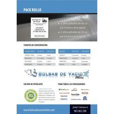 Bolsas de vacío gofradas para envasadora doméstica. PACK ROLLO (20cmx6m+30cmx6m)