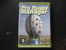 PRO RUGBY MANAGER 2004 PC CD-ROM FAST POST ( brand new & sealed )