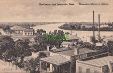 Postcard Rio Grande Brownsville Texas TX Matamoros Mexico in Distance
