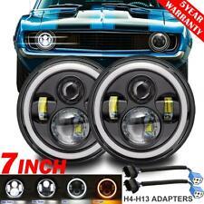 """2x 7"""" 280W LED Headlight DRL Angel Eyes DOT Lamp for Chevrolet C10 Truck Camaro"""