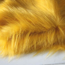 "Golden SHAGGY FAUX FUR FABRIC LONG PILE FUR costumes cosplay crafts 60"" BTY"