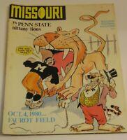 Vintage 1980 Missouri Tigers vs Penn State Nittany Lions NCAA Football Program