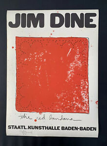 Jim Dine Signed Exhibition Poster The Red Bandanna Staatl Kunsthalle Baden Baden