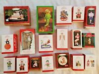 Huge Mixed Lot Of 18 Hallmark Keepsake Christmas Ornaments In Boxes Collection