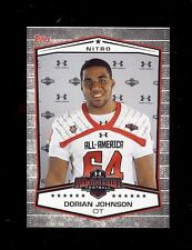 DORIAN JOHNSON 2013 Topps Under Armour All-American - XFL DC Defenders / Pitt RC