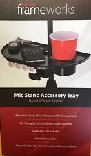 Gator Cases - GFW-MICACCTRAY - Mic Stand Accessory Tray with Drink Holder