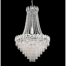 SEARCHLIGHT LOUIS PHILIPE CRYSTAL CHANDELIER IN CHROME FINISH 1611-6CC