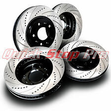 HON003S Accord 4cyl V6 Performance Brake Rotors 03-07 SET F/R Drill + Curve Slot