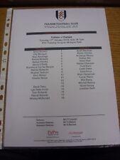 17/01/2012 Fulham Juventud V Chelsea Juventud en MOTSPUR Park [] (sola hoja). gracias