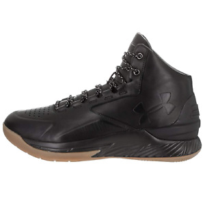 Under Armour Stephen Curry 1 LUX Mid LTH Basketball Shoes black 1296616 001 SALE
