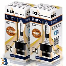 2 x D2R Genuine LUNEX XENON BULB  P32d-3 Original 35W 4300K Colour Match +50%