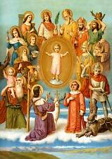 Catorce socorristas Blasius Achatius Christophorus Hlg. St. bütten Sankt a3 0137