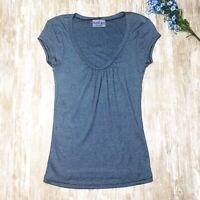 Michael Stars Scoop Neck Tee Shirt Short Sleeve Sparkle Blue Women's One Size
