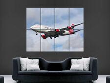 BOEING JUMBO JET 747 PASSENGER  PLANE  LARGE ART GIANT POSTER PRINT IMAGE HUGE