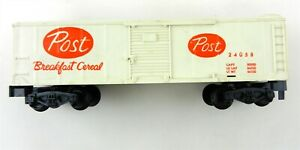 American Flyer S 24058 POST Cereal Boxcar Pike Master Couplers  T112
