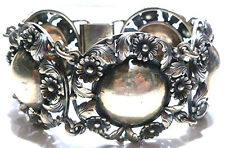 X-WIDE NE FROM NIELS ERIK DENMARK MODERN FLOWER DOME STERLING SILVER BRACELET