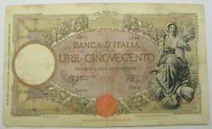 ITALY 500 Lire 18.1.1943 - Pick 61