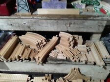 51 Piece THOMAS THE TRAIN wooden RAILWAY Track Lot