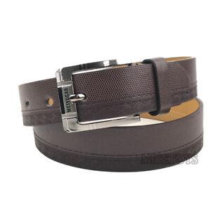 Men's Casual Black Dress Leather Belt w/ Buckle New S-XL classes Black Brown306