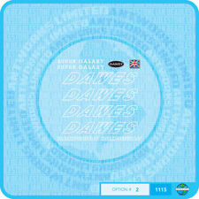 Dawes Super Galaxy Bicycle Decals Transfers - White - Set 2