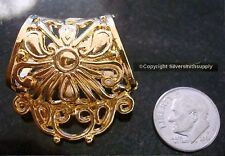 Scarf ring slide clip filigree dangle tube clasp gold plated scarf fpc183