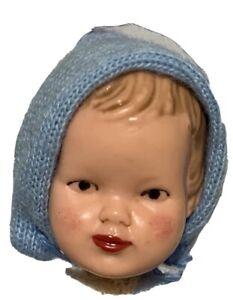 "Vintage German Caco Vinyl Doll House Baby Toddler Preschool Boy 3"" Molded Hair"