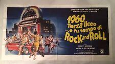 MANIFESTO ORIG. 6F 1960 TERZA LICEO E FU TEMPO DI ROCK  AND ROLL VADIM  AUTO CAR
