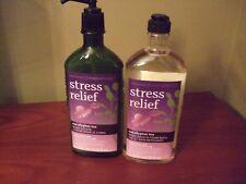BATH AND BODY WORKS AROMATHERAPY STRESS RELIEF EUCALYPTUS TEA 2 PIECE SET
