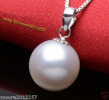 Super huge 14mm round sea shell pearl pendant necklace