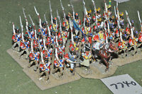 25mm napoleonic / swiss - infantry 36 figs metal painted - inf (7740)