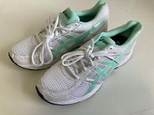 New ASICS GEL-CONTEND 4 Run Women UK 9 Shoes Trainers EU 43.5 White Mint US 11