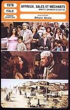 AFFREUX SALES ET MECHANTS - Manfredi (Fiche Cinéma) 1976 - Ugly, Dirty And Bad