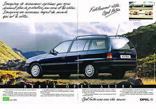 PUBLICITE ADVERTISING  1991   OPEL   ASTRA BREAK   ( 2 pages)