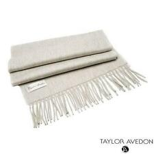 New Taylor Avedon Beige Cashmere Scarf Made in Italy