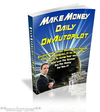 HOW TO MAKE MONEY DAILY WITH PAYPAL ON AUTOPILOT PDF eBOOK ON CD