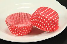 100x, 2'' Cupcake Liners, Baking Cups, Red Polka Dot, Standard Size