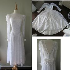 Vintage Alfred Angelo Wedding Ball gown lace bridal Dress  W30""